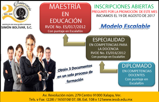 Instituto de educaci n superior sim n bolivar escuela for Universidades en xalapa
